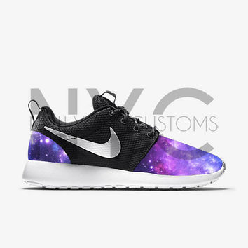 new style 1f12e 1da49 Interstellar Galaxy Nike Roshe One V5 Edition Custom Men Women   Kids