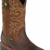 John Deere Men's Waterproof Composite Toe Work Western Boot