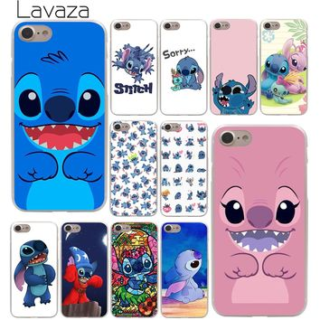 Lavaza cute cartoon Lilo & Stitch Hard Phone Cover Case for Apple iPhone 10 X 8 7 6 6s Plus 5 5S SE 5C 4 4S Coque Shell