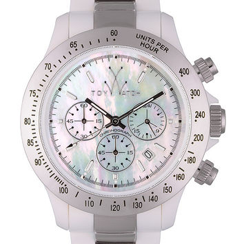 Toy Watch Heavy Metal Plasteramic WATCH COLLECTION Silver White Chronograph 18207-SL