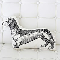 Rise and Fall Dachshund Pillow