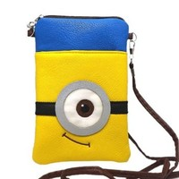 Rulercosplay Despicable Me One Eye Minions Cute Coin Purse Fashion Bag (20*12cm)