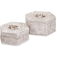 Blossom White Washed Bamboo Box Set