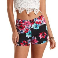 Floral Print High-Waisted Shorts by Charlotte Russe