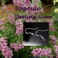 Sterling Silver Earrings Upgrade with Earrings Purchase - Fishhook Dangle Earrings