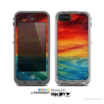 The Abstract Painted Sunset Skin for the Apple iPhone 5c LifeProof Case