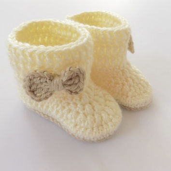Baby Booties, Baby Girl Shoes, Unisex Baby Booties, Baby Shoes