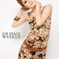 Wholesale Womens Long Holiday Dresses with Belt Coffee : Yoco-fashion.com