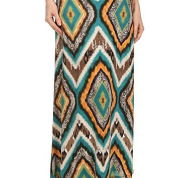 Adrienne Colorful Earth Color Printed Ankle Length Skirt