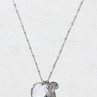AEO Women's Shield Charm Necklace (Silver)