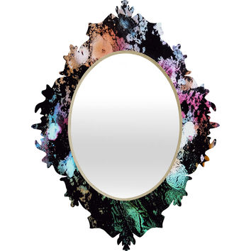 Rosie Brown Blooming Black Baroque Mirror