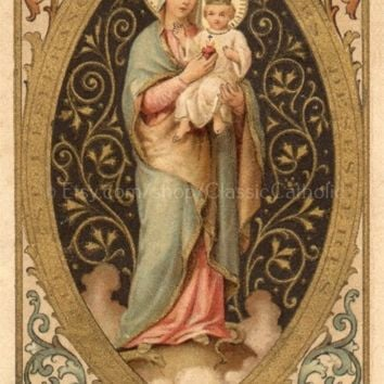 """Our Lady of the Sacred Heart – 8.5x11"""""""