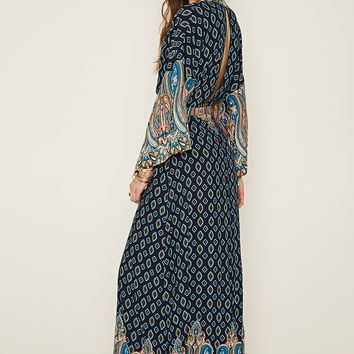 Ornate Print Maxi Dress Forever 21 From Forever 21 Quick