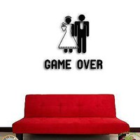 Wall Sticker Funny Game is Over Wedding Man Decor For Living Room  Unique Gift z1530