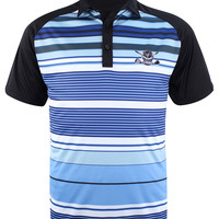 Retro Stripes ProCool Men's Golf Shirt (Blue/White)