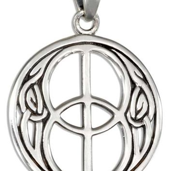 STERLING SILVER CELTIC CHALICE WELL PENDANT