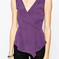 Aryn K Sleeveless Silk Blouse