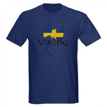 Swedish Viking Axe Sweden Dark T-Shirt by CafePress:Amazon:Clothing