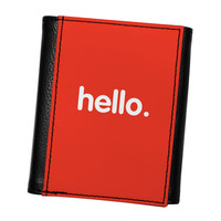 Hello High Quality PU Faux Leather Wallet by textGuy