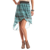 Tribal Hi-Low Tulip Skirt: Charlotte Russe