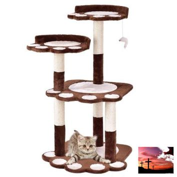 "42"" Cat Tree Pets Jumping Climbing Frame-FREE SHIPPING USA ONLY!!"