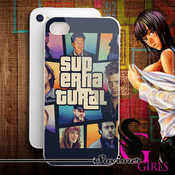 Supernatural Gta for iPhone 4/4S, 5/5S, 5C and Samsung Galaxy S3, S4 - Rubber and Plastic Case