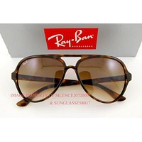 Brand New Ray-Ban Sunglasses RB 4125 710/51 LIGHT HAVANA For Men Women