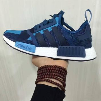 SUMMER11 ADIDAS NMD Women Running Sport Casual Shoes Sneakers camouflage Blue black li