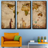 World map, for gift map, ancient map, world map canvas, wall decor maps, world on canvas, Printing on canvas, world traveler map