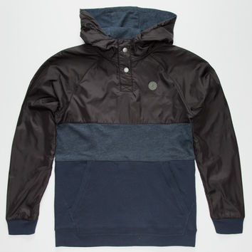 Volcom Firewood Boys Henley Hoodie Navy  In Sizes