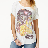 Juniors' Studded Retro Star Wars Graphic T-Shirt from Hybrid
