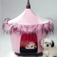 Amazon.com: Pet Tent Small Dog Bed - Posh & Pink: Pet Supplies