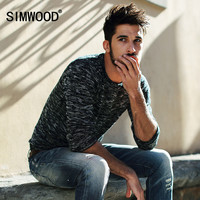 2016 New Arrival SIMWOOD Brand Clothing Men Sweater Fashion Slim Fit Casual Knitted Pullover Free Shipping