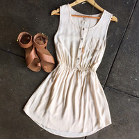 A Buttondown Sundress in Linen