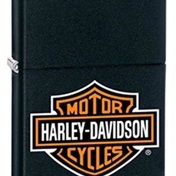 Gifts Infinity® Personalized Zippo Lighter Harley Davidson Logo Black Matte - Free Engraving