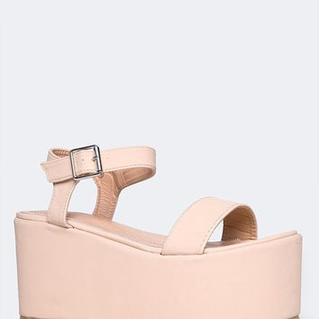 Platform Covered Sandal