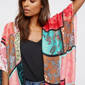 Free People Voodoo Child Patchwork Kimono