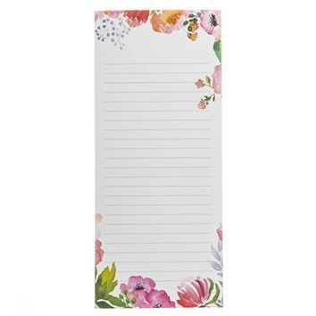 Rose Floral Magnetic Notepad