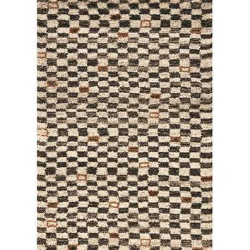 Kalora Maroq Tribal Checkers Soft Touch Rug