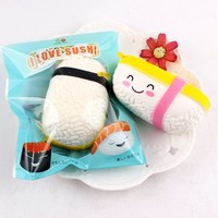 Voberry® Soft Sushi Scented Squishy New Healing Squeeze Slow Rising Stress Relief Reliever Cartoon Children Cute Funny Kids Children Baby Game Toy Gift Simulation Present Novelty Decompression - Walmart.com
