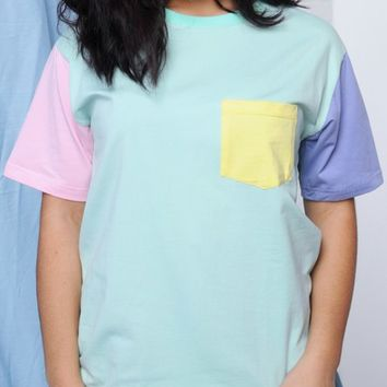 Mint Pocket Tee