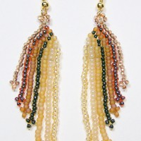 Topaz Confetti Beadwoven Earrings 268