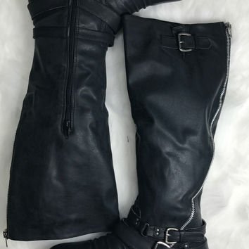 High & Mighty Black Boots