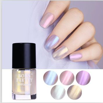 9ml BORN PRETTY Translucent Shell Shimmer Nail Polish Glitter Chameleon Nail Varnish Holographic Polish Purple Blue Nails