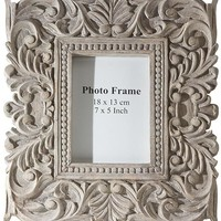 Sachi Carved Wood Photo Frame - Picture Frames -  Wall Decor -  Home Decor | HomeDecorators.com