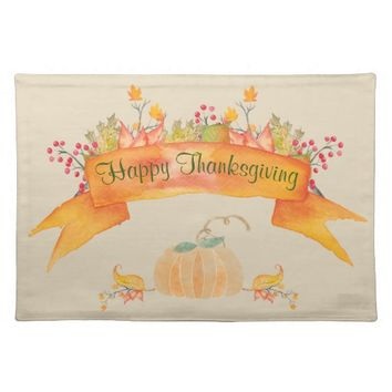 Fall Thanksgiving Cloth Placemat