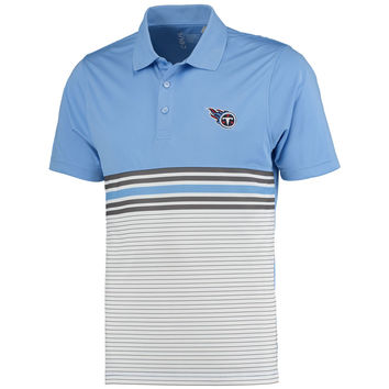 Men's Tennessee Titans CBUK by Cutter & Buck Light Blue Heron Lakes Striped Polo
