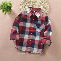 Shirt For Boys Girls Baby Shirts Plaid Shirt Boy Child Blouse Cotton Tops Brand Polo Long Sleeve School Boys Clothes 10 Year