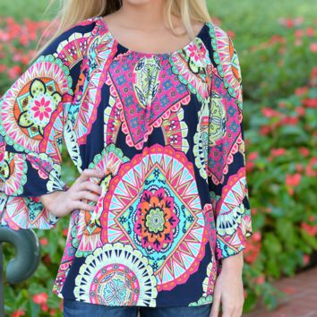 Totem Printed Ethnic Style Summer Beach Dress