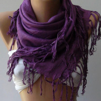 Purple - Shawl / Scarf.